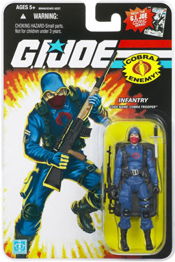 "GI Joe 3 3/4"" Red Logo Cobra Trooper Action Figure"